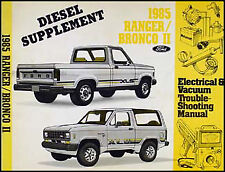 1985 Ford Ranger and Bronco II Diesel Electrical Troubleshooting Manual Original