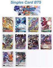 Digimon Card Game BT5 Battle of Omni Singles Super Rare Uncommon Comuni ENG
