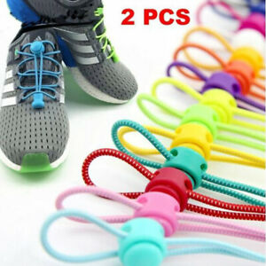 1Pairs No Locking Shoe Laces Unisex Elastic Sneaker Shoelaces Sport Shoestrings
