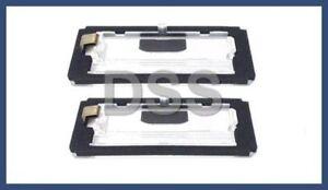 Genuine BMW E46 323Ci 325Ci 330Ci M3 License Plate Light Lens NEW Set of 2 Pair