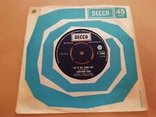 "JONATHAN KING * LET IT ALL HANG OUT * 7"" SINGLE EXCELLENT 1969 DECCA"