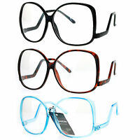 SA106 Womens Drop Temple Crooked Arm Swane Diva Clear Lens Eye Glasses