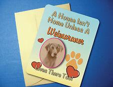 """A House Isn't Home"" Weimaraner Greeting Card / Blank Note Card - sku# AH-42"
