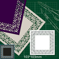 Background Frame Metal Cutting Dies Stencil DIY Scrapbook Paper Card Decor Craft