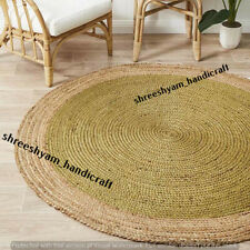 "2""Feet Indian Bohemian Home Deco Round Shape Rug Hand Braided Are Round Rug Mat"