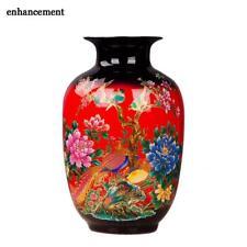 Porcelain Flower Vase Ceramic Flower Holder Home Desk Christmas Decoration