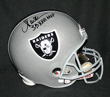 "MARCUS ALLEN Signed ""SB XVIII MVP"" Oakland Raiders REPLICA Helmet Autograph PSA"