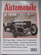 The Automobile magazine 07/1995 featuring Napier, Bentley, Gregoire