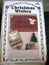 Christmas Applique wall hanging quilt pattern banner dove Peace