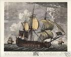 HMS MONARCH 1747 Fine Art Print - 74 gun Man o' War British Navy Cape Finesterre