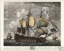 HMS MONARCH 1747 Fine Art Print - 74 gun Man o' War British Navy Cape Finesterre