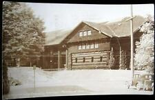 PORTLAND OR ~ 1940's LARGEST LOG CABIN IN THE WORLD ~ OLD AUTOS ~ Pictorial RPPC