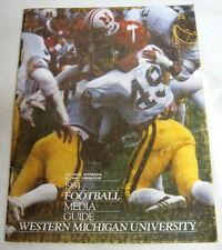 1984 WESTERN MICHIGAN UNIVERSITY FOOTBALL MEDIA GUIDE Jack Harbaugh