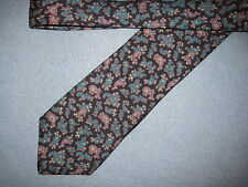 Mens Black Green Print Silk Tie Necktie Nantucket ~ FREE US SHIP (6039)