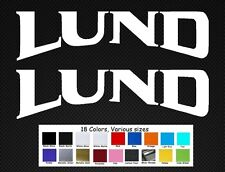 "Lund Boats Decal Set Stickers 10"" Fishing Rapala Baitcaster Swim Bait Outboard"