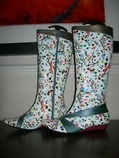 RED OR DEAD WOMEN'S BOOTS CALF LENGTH LOW WEDGES MULTI-COLOURED EU 39 / UK 6