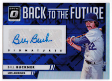 2016 Donruss Optic Back to the Future Signature Blue Bill Buckner Auto #/50
