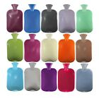 Fashy 2.0L Single Ribbed Latex Free Hot Water Bottle