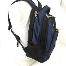 Swiss Gear Backpack Laptop Bag Lots of Pockets Black Blue Computer Carry-On
