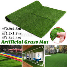 Artificial Grass Carpet Green Fake Synthetic Garden Landscape Lawn Mat Turf Deco