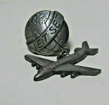 Real Nice Metal Jet Set World & Jet Air Plane Pin