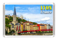 "Lyon France Fridge Magnet Travel Souvenir 3""x2"" Aimant de réfrigérateur"