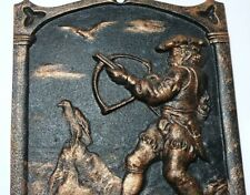 Antiques Falconry Cast Iron Founding Bas-Relief Imperial Russia Kasli 1902-1909