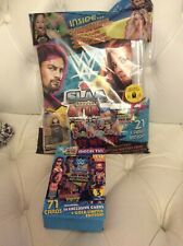 Topps WWE Slam Attax Reloaded Trading Card Game Bundle Mega Tin and starter pack