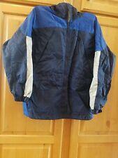 Boys Columbia Windbreaker Jacket Size 10 12 Blue Packable