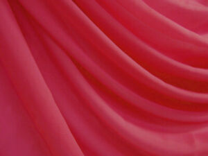 Clear Stock*W056 Coral Fuschia *100D Chiffon Mesh Sheer Dress Fabric Material