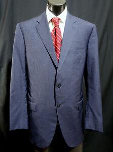 Canali 1934 Suit 46L Very Current Dual Vents Subtle Blue Check