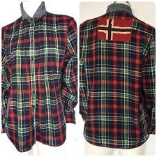 Napapijri Geographic Shirt Women Long Sleeve Plaid Multicolored SIZE XXL