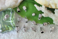 Fast  Post  200Pcs Antiqued Silver End bead End Cap for 3mm Cord For Jewelry