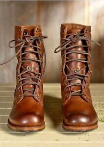 TOP QUALITY-MENS NEW HANDMADE BROWN MILITARY BOOTS MEN HIGH ANKLE COMBAT SHOES