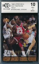 MICHAEL JORDAN 1998 UPPER DECK MJX TIMEPIECES GOLD #/23 CARD #18 BGS!  23 MADE!