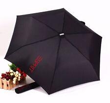 NWT Esprit Black or Blue Folding Umbrella with Aluminum Frame UPF 30