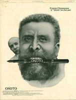 Publicité ancienne porte plume réservoir Onoto 1908 issue de magazine