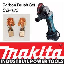 Makita 18v LXT Angle Grinder Bga452 Bga452z Genuine Carbon Brush Set Cb-430