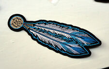P3a Native American Biker Iron on Patch Feathers Cowboy Motorcycle Indian Tribal