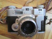 Vintage Kodak 35 35mm Film Rangefinder Camera Anastar 50mm f3.5 lens v good