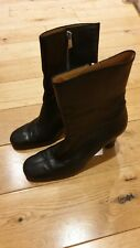 Bally Black Leather Boots Size 40 EURO