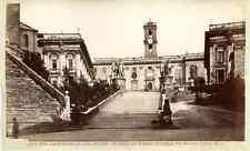 Italia, Roma, Piazza del Capidoglio, nel centro statua di Marco Aurelio  Vintage