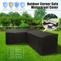 Waterproof L Shape Sofa Furniture Cover Corner Couch Outdoor Furniture Slipcover
