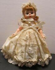 """Vintage Ecru & Lace Bridal Doll Dress for 8"""" Mdm. Alexander or Similar 1950's"""