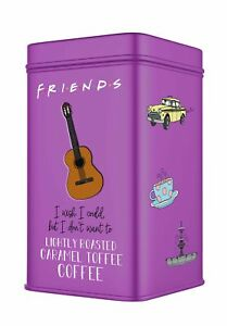 F.R.I.E.N.D.S Collectable Lightly Roasted Caramel Toffee Coffee Tin 100g