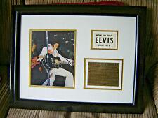 ELVIS PRESLEY - ELVIS ON TOUR 1972 - MOUNTED & FRAMED BACKSTAGE PASS - GENUINE