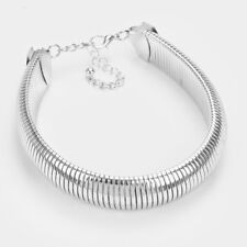 Celeb Statement Chunky Silver Omega Chain Choker Necklace Set By Rocks Boutique