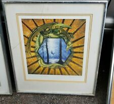 LUTHERIEN IN THE WOODS Ltd Edn Print by Roger Garland - signed 1989 - Tolkien