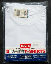 ★ Lot de 2 T-Shirt LEVI'S  ★ Col Rond ★ Homme ★ Taille L ★ 100% Coton ★ Neuf ★