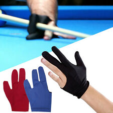 2x Black Spandex Snooker Billiard Cue Gloves Pool Left Hand Three Finger Hotsell